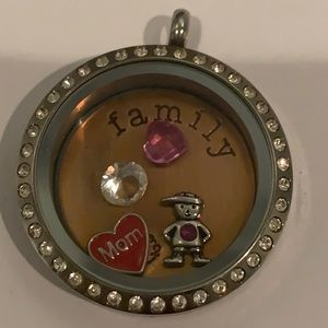 Origami Owl Pendant with Charms